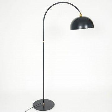 Lámpara de pie arco pantalla metal