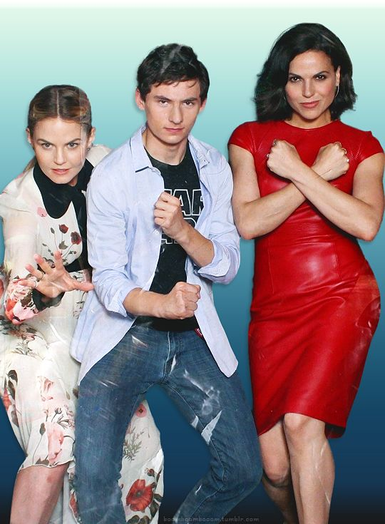 Jennifer Morrison, Jared Gilmore, and Lana Parrilla at SDCC 2016