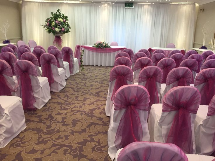 #chair covers today for our #bride and groom at #Oakley Court Hotel #Windsor #Berkshire