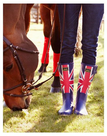 Joules Union Jack wellies; so can we get red polo wraps with the union jack on the velcro?