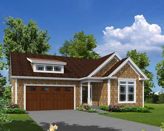 Bungalow Style House Plans - 1762 Square Foot Home , 1 Story, 3 Bedroom and 2 Bath, 2 Garage Stalls by Monster House Plans - Plan 77-399