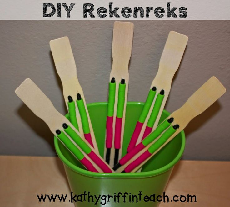 Easy DIY Rekenreks using Paint Sticks- GENIUS! Hands-On Math Activity for Number Sense.