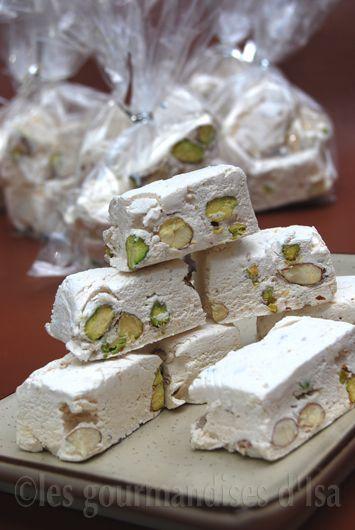 Les gourmandises d'Isa: NOUGAT BLANC AU MIEL