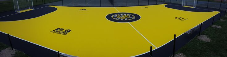 Laykold Masters Color futsal court with custom colors and logos for Columbus Crew