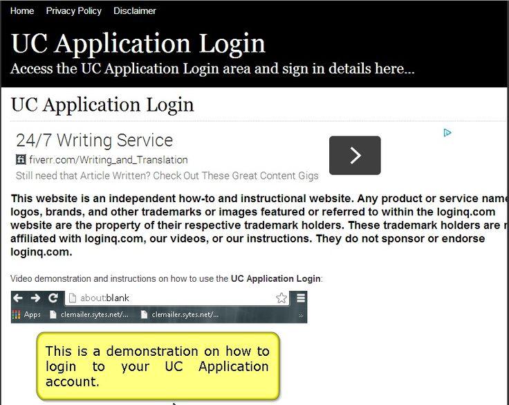 Secure Login Access the UC Application login here