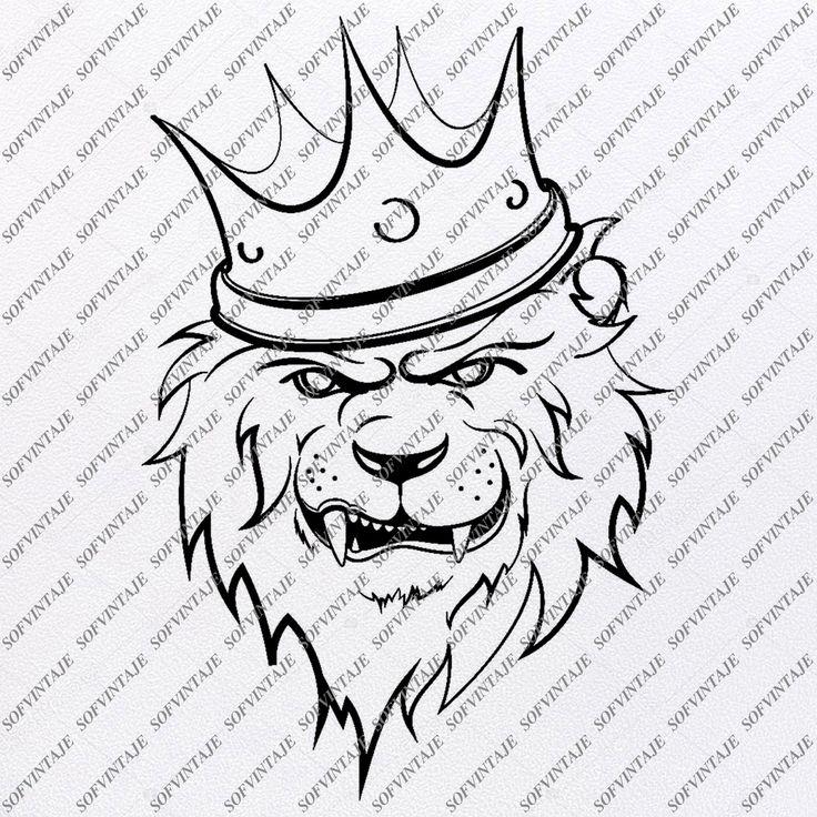 Lion Svg File King Lion Svg Design Lion Clipart