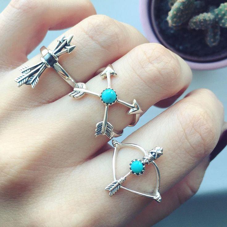 Beautiful sterling silver #arrow rings.