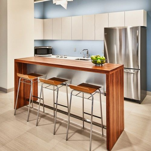 Office Kitchen Tables: Fascinating Office Break Room Furniture With Wooden Tall