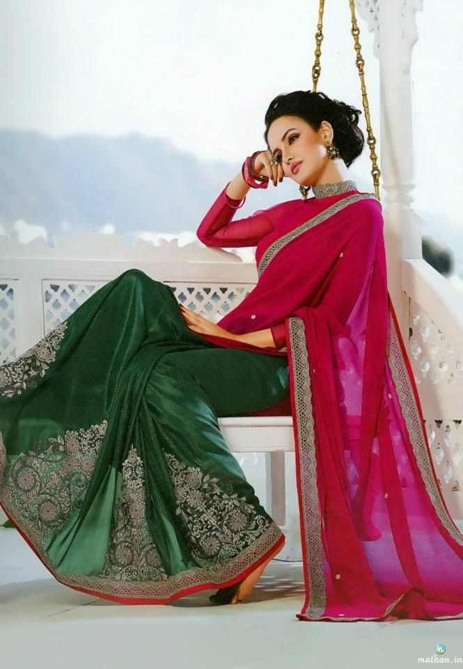 15 best ethnic beauty designer sarees collections images for Sari furniture designer