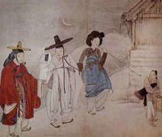 야금모행 (심야의 비밀 나들이), 신윤복
