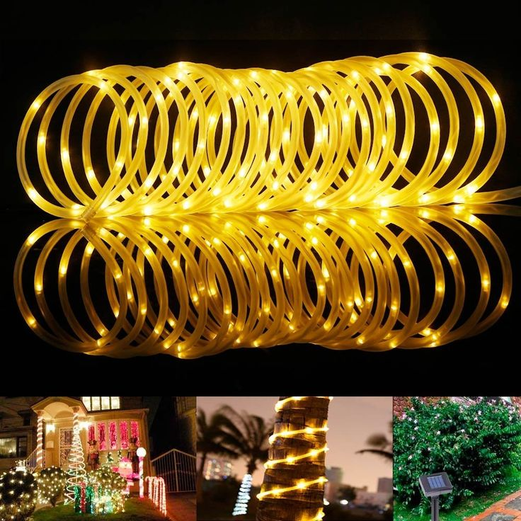 Amazon.com : LE 33ft 100 LED Solar Rope Lights, Waterproof Outdoor Rope Lights, 3000K, Warm White, Portable, LED String Light with Light Sensor, Ideal for Wedding, Party, Decorations, Gardens, Lawn, Patio : Patio, Lawn & Garden