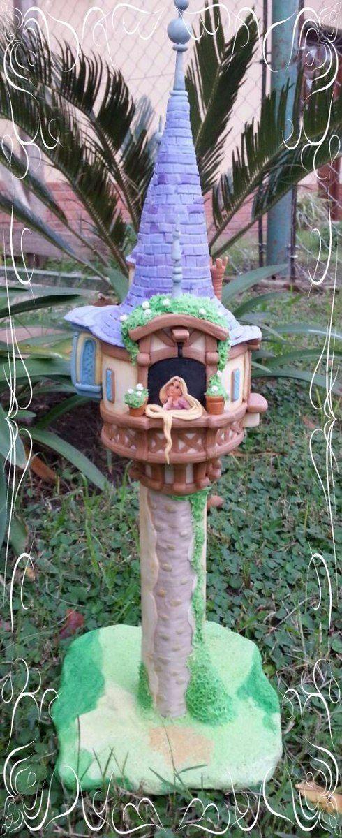 Adorno para torta torre rapunzel