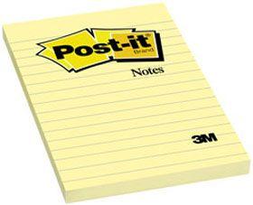 $52.25 Post-It Notas Adhesivas de 101x152mm Rayada Amarillo Canario