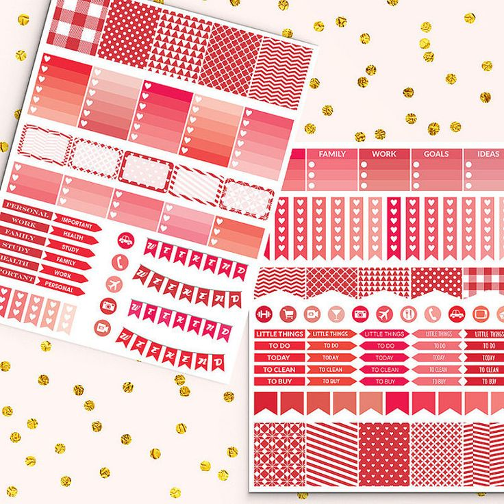 Monthly View Stickers -  http://etsy.me/2e6rToZ Monthly view stickers pack is perfect for create handmade planners, stationery, greeting cards, craft items and much more.