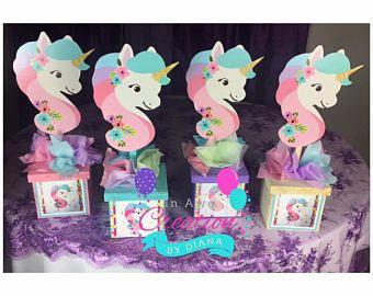 Unicorn Centerpiece Glitter BoxIts A Girl Unicorn CenterpieceUnicorn Birthday Unicorn Baby