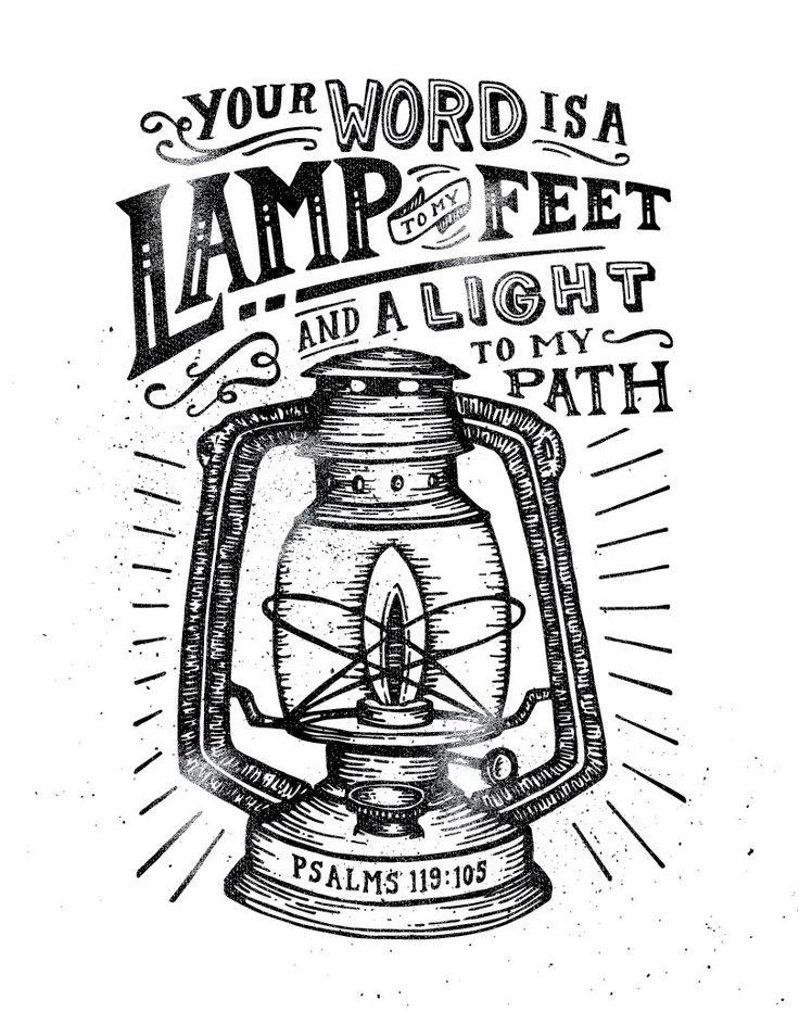 """"""" tua palavra é uma lâmpada para os meus pés e uma luz para o meu caminho"""