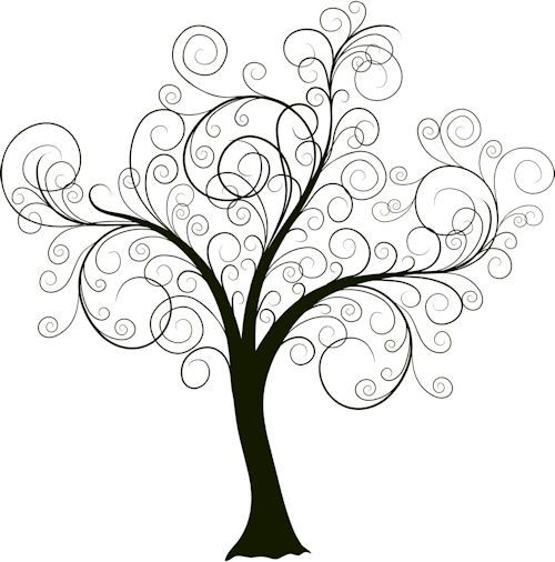 "Beautiful swirly tree.  I'm planning on painting this on the wall and then adding pictures of our family to create a unique ""family tree."""