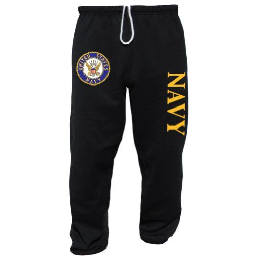 US United States NAVY USN Black Sweatpants Black Large. Color: Black. No Pockets. 50% cotton 50% polyester. Soft & Cozy. Elastic Waist & Cuff. US United States NAVY USN Black Sweatpants.