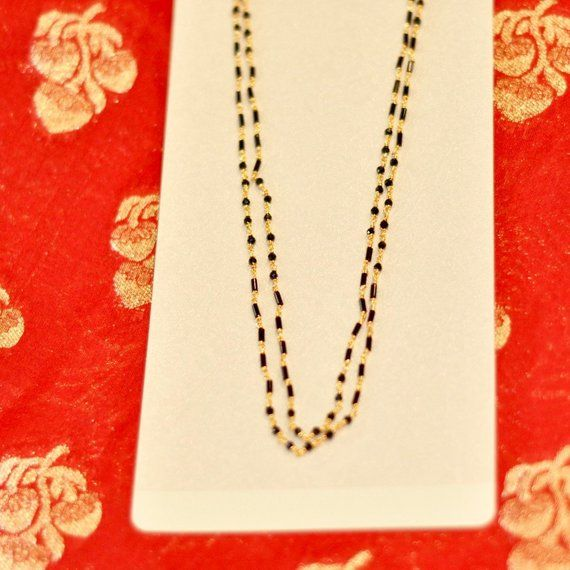 0eec5f5860575 SALE 25% Discount Black Beads Mangalsutra One Gram Gold Necklace ...
