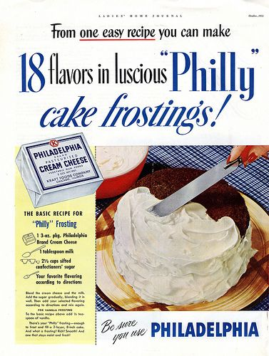 Philly Cream Cheese #vintage ad