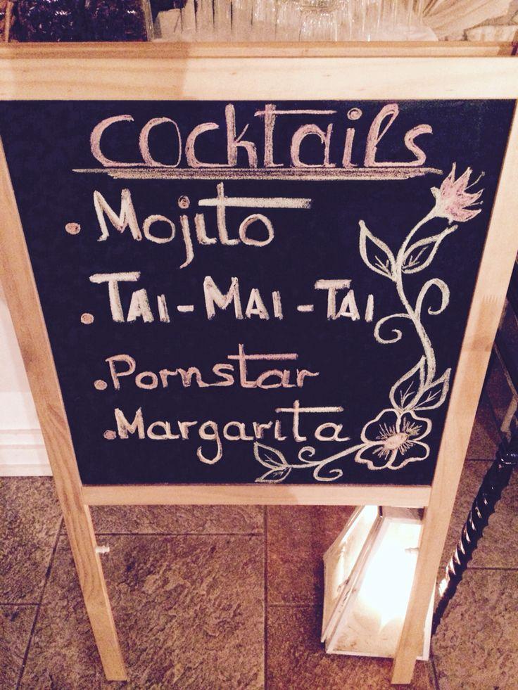Cocktail list ....!!!