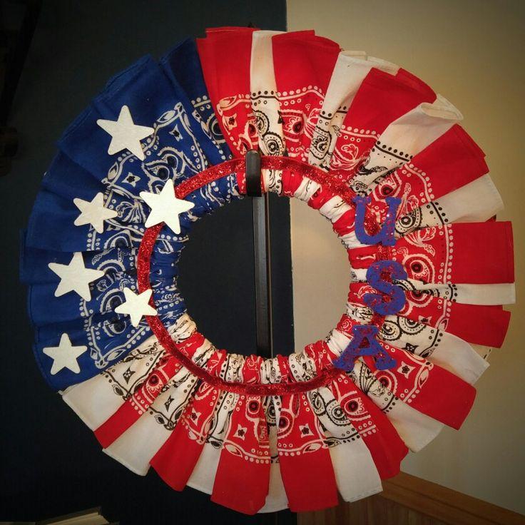 The Red Bandana USA Wreath 59 best