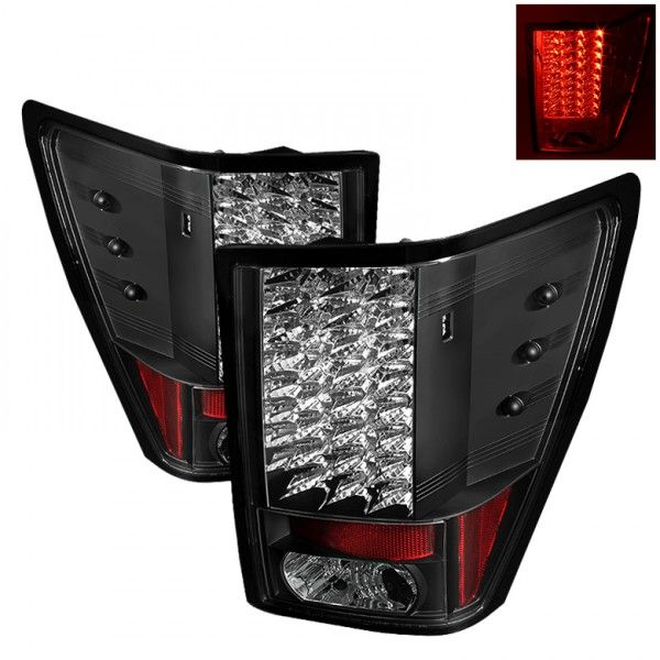 Spyder Auto ALT-YD-JGC07-LED-BK | 2009 Jeep Grand Cherokee Black LED Taillights for SUV/Truck/Crossover