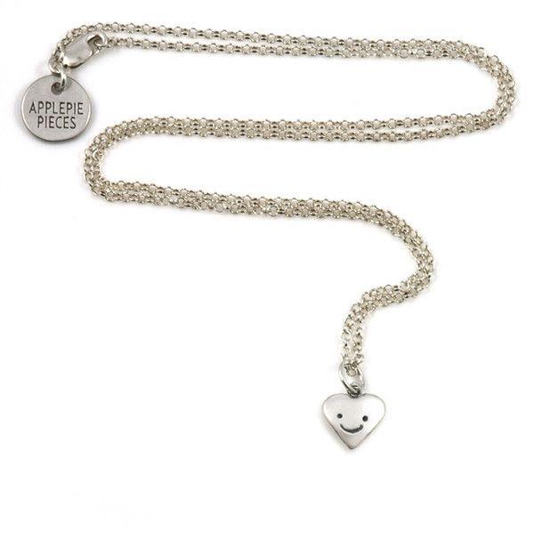 Sterling zilveren hartjes ketting Heart me - Applepiepieces #applepiepieces