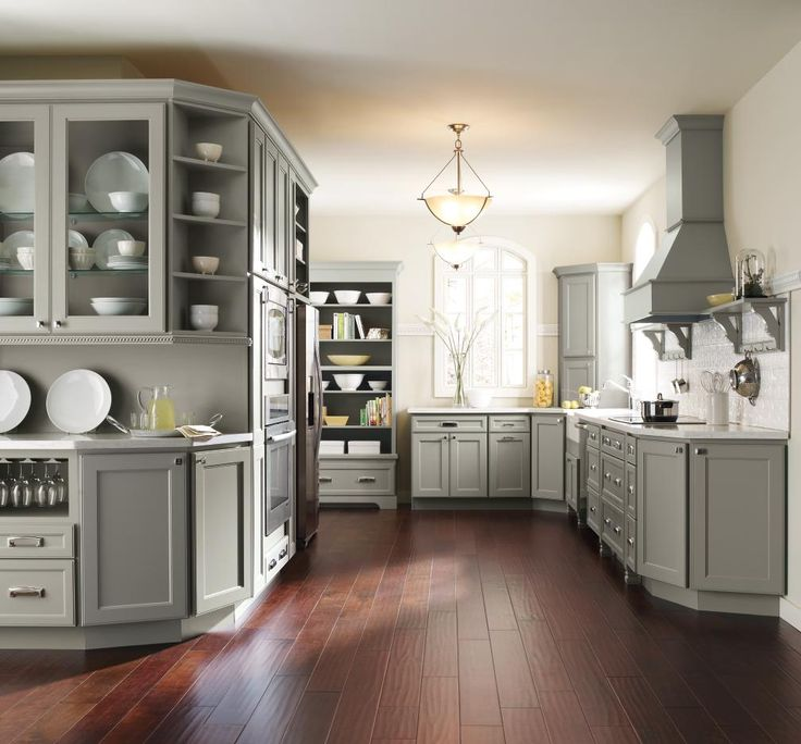 Andy Wells, vice president of product design and trend at MasterBrand says gray is a great backdrop to show your personality in home design! This Homecrest kitchen features Brenner cabinets in a Willow Finish. Will you be incorporating gray into your home this year?