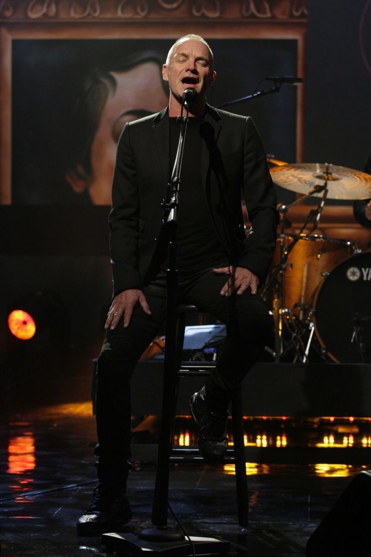 "Sting sails away during a performance on ""The Tonight Show With Jay Leno"" on Nov. 4 in Burbank, Calif."