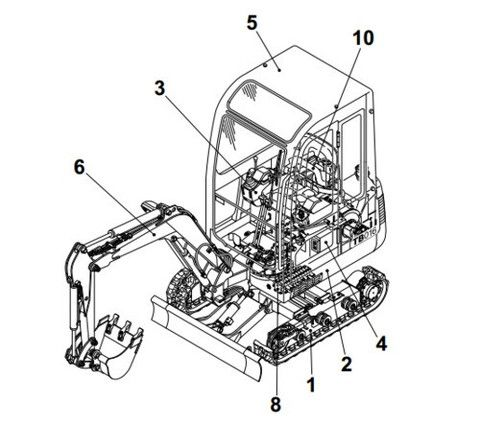 30b9123dfd390795a20b73eb441d68b8 excavator parts compact 63 best download takeuchi service manual images on pinterest takeuchi tb145 wiring diagram at creativeand.co
