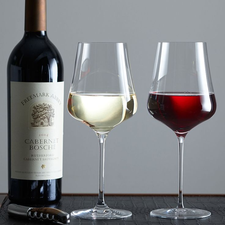 Gabriel Glas. Choosing a suitable glass is often more difficult than choosing the right wine. With this one-for-all design, there is no need for a cupboard full of glasses.