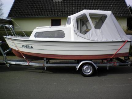 Mayland Fisherman 16 Angelboot Kajütboot mit Trailer und Motor in Schleswig-Holstein - Ostenfeld (Husum)   Gebrauchte Boote und Bootszubehör   eBay Kleinanzeigen