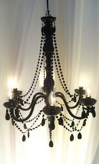 "A ""Breakfast at Tiffany's"" room needs a chandelier...of course."