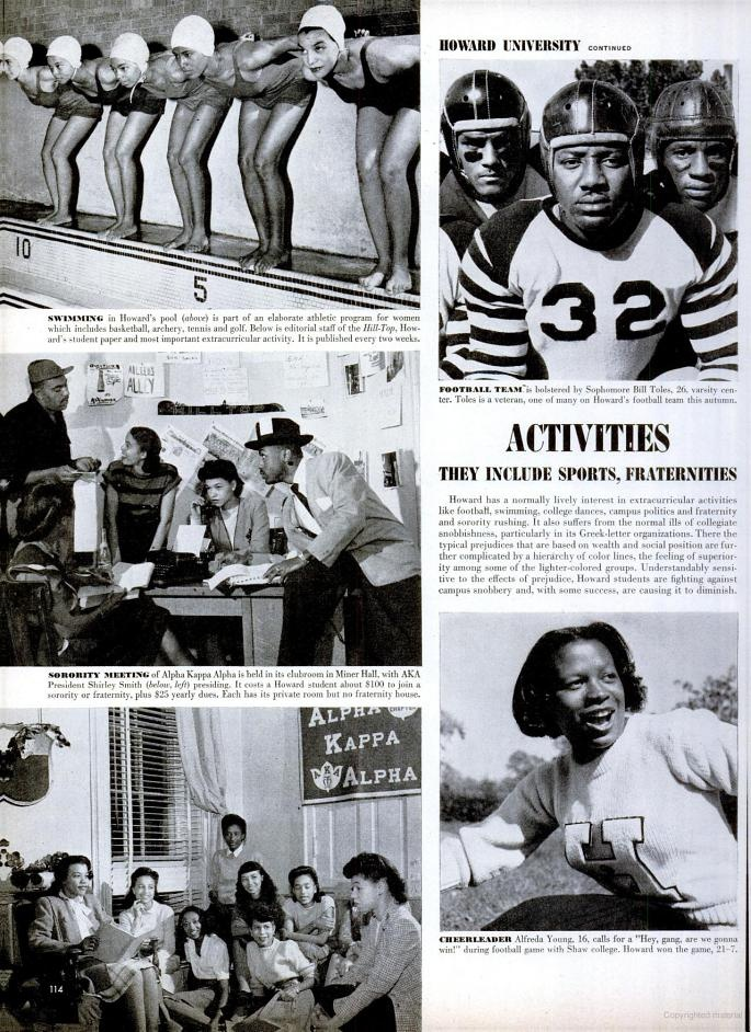 best howard u images howard university mecca click for scans of the entire life photo essay on howard university in nov 1946