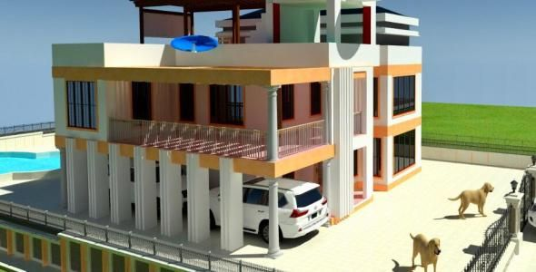 4 Bedroom Mansion House Plan In Kenya Muthurwa Com House Plans Bungalow House Plans Mansions Homes