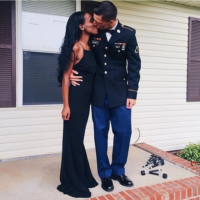 Beautiful interracial military couple #love #wmbw #bwwm