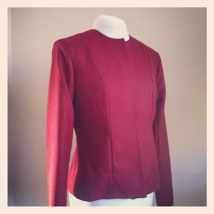 Classic lined Red Mohair Jacket.   www.lo-studio.biz  http://www.facebook.com/lostudiopage