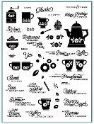 Coffee Set - clear stamps now available from Gina K designs, click here to shop: http://www.shop.ginakdesigns.com/product.sc?productId=2528&categoryId=16 #stamping #coffee #crafting #cardmaking #GinaK #papercraft