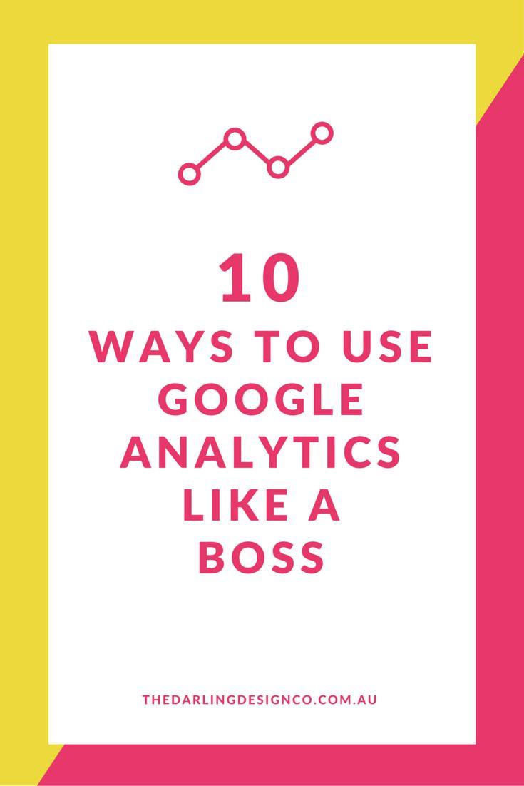 10 Ways to Use Google Analytics Like a Boss << TheDarlingDesignCo