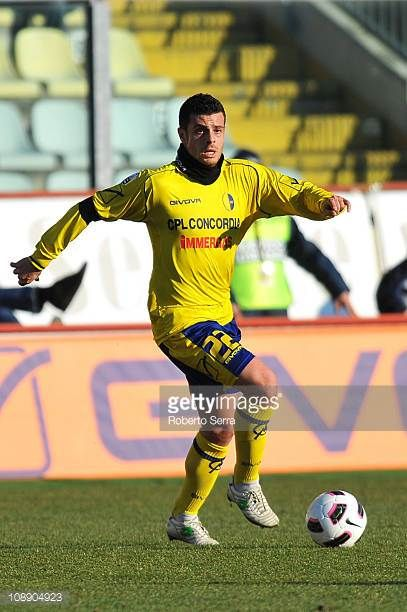 Andrea Milani of Modena in action during the Serie B match between Modena FC and FC Crotone at Alberto Braglia Stadium on February 5 2011 in Modena...