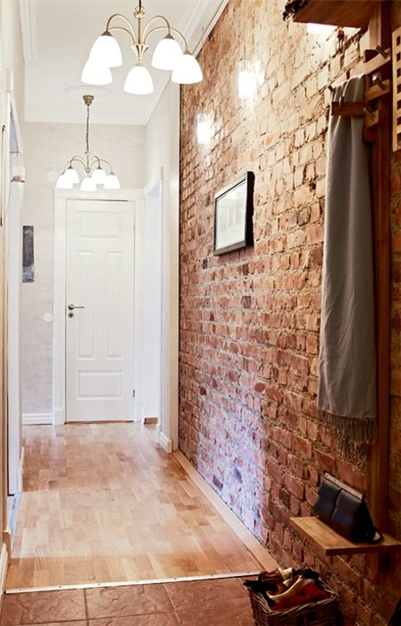 feature entry brick wall