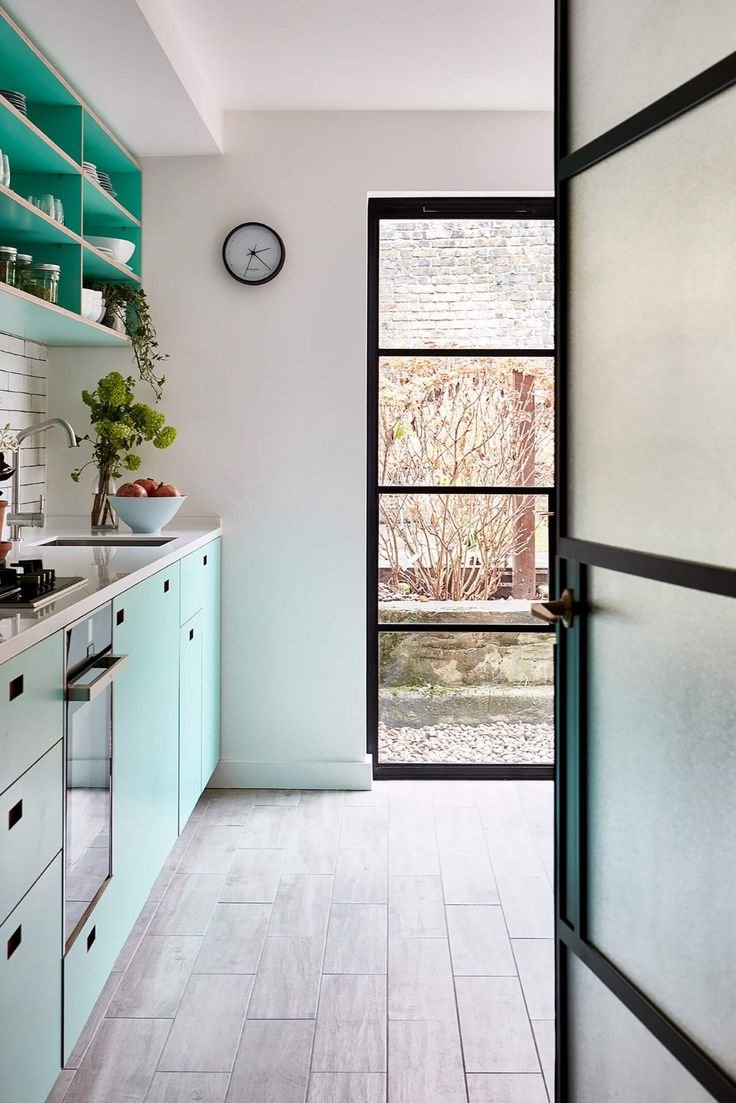 Projects Pluck in 2020 Green kitchen walls, Mint green