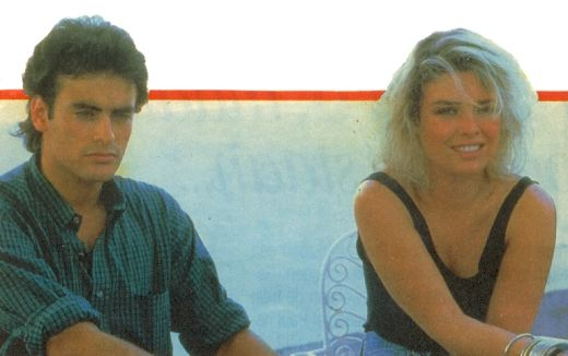 Kim Wilde & Antony Delon 1987 ~ Check out for more pins: https://www.pinterest.com/nenoneo/kim-wilde/