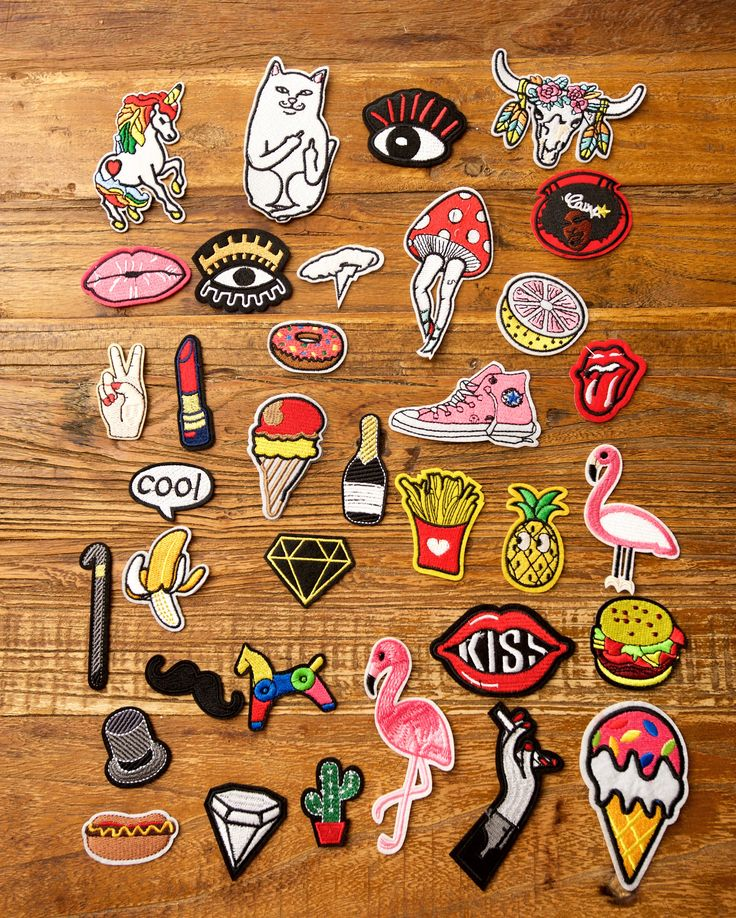 DIY Project 35 Pieces Iron On Sew On Embroidered Bulks Patches