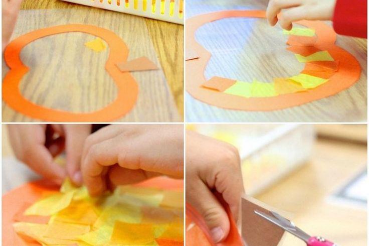 bricolage-facile-déco-fenêtre--dessin-citrouille-etape-par-etape