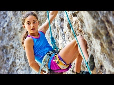 GIRL POWER  video ~Brooke Raboutou: 11-Year-Old Girl Shatters Climbing Records