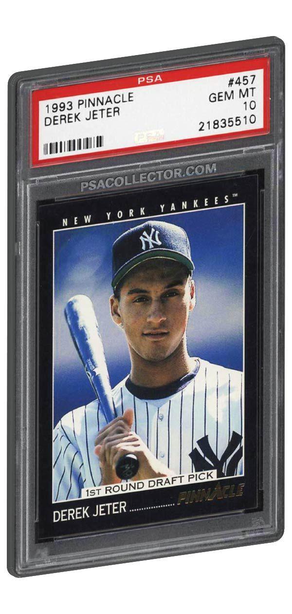 1993 Pinnacle Derek Jeter Rookie Card Psa 10 Gem Mint The