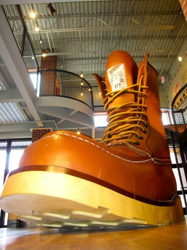 Love the size 638½ work boot at Red Wing Shoe Company Museum and Store. See our two-day itinerary for a Red Wing visit: http://www.midwestliving.com/travel/minnesota/red-wing/weekend-trip-to-red-wing-minnesota/
