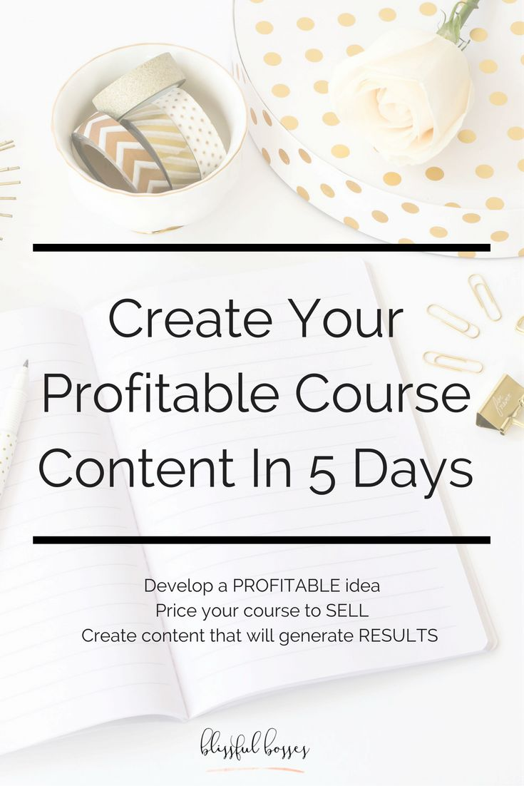 Create Your Profitable Online Course in 5 Days | Online Business Tips